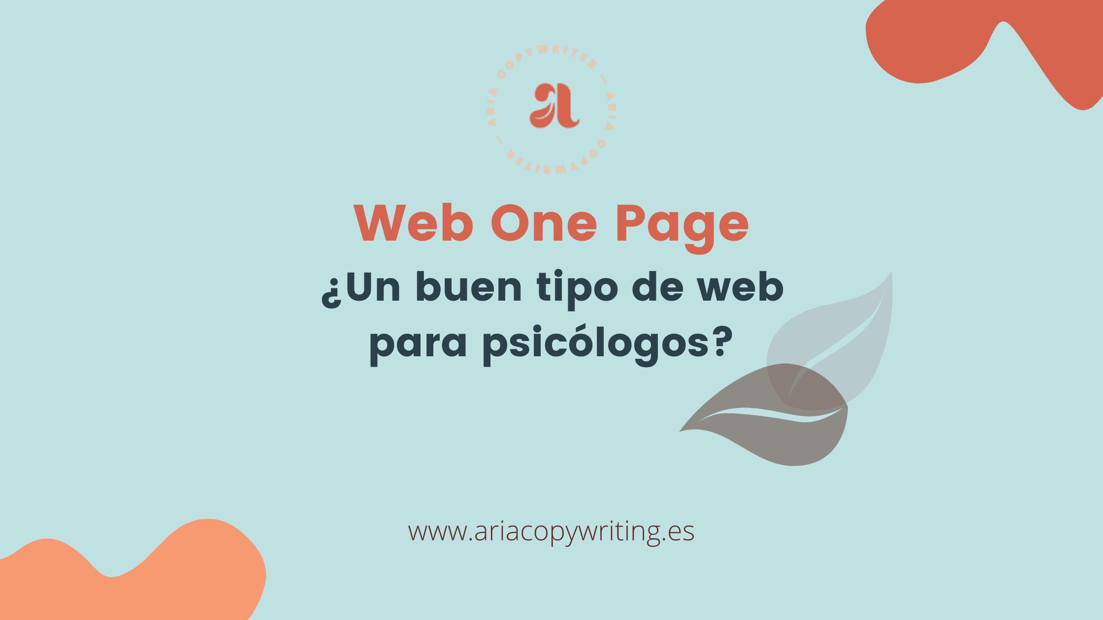 Es buena idea hacer una web one page si eres psicologo