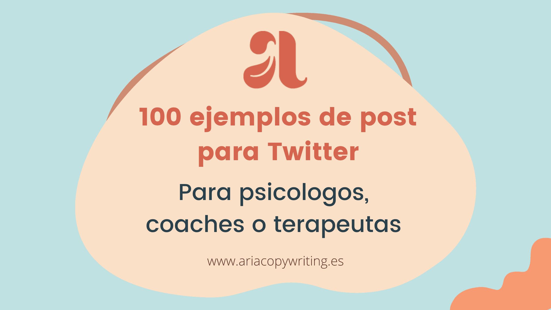 100 ejemplos de post para Twitter